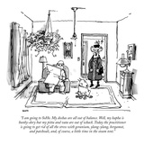 """I am going to SoHo My doshas are all out of balance Well  my kapha is h…"" - New Yorker Cartoon"