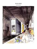 RUSH HOUR - New Yorker Cartoon