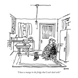 """I have a mango in the fridge that I can't deal with"" - New Yorker Cartoon"