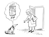 Dog thinks of owner as a can of dog food with legs - New Yorker Cartoon