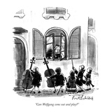 """Can Wolfgang come out and play"" - New Yorker Cartoon"
