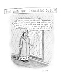 """Play on """"Mirror  mirror on the wall"""" fairy tale  where queen is """"vain but …"""" - New Yorker Cartoon"""