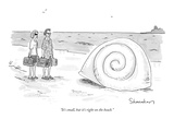 """""""It's small  but it's right on the beach"""" - New Yorker Cartoon"""