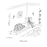 """That's a start"" - New Yorker Cartoon"