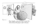 """Hey  Sisyphus  when you've got a minute I'd like to discuss this progress…"" - New Yorker Cartoon"