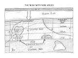 The War with New Jersey Blueprints for an invasion - New Yorker Cartoon