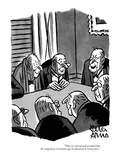 """Then it's moved and seconded that the compulsory retirement age be advanc…"" - New Yorker Cartoon"