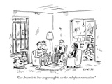 """Our dream is to live long enough to see the end of our renovation"" - New Yorker Cartoon"