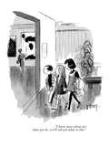 """""""I know more about art than you do  so I'll tell you what to like"""" - New Yorker Cartoon"""
