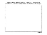 Title over empty cartoon frame reads  'Please Enjoy this Culturally  Ethni… - New Yorker Cartoon