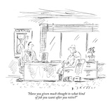 """Have you given much thought to what kind of job you want after you retire…"" - New Yorker Cartoon"