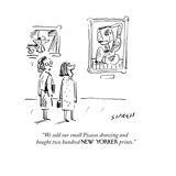 """We sold our small Picasso drawing and  bought two hundred NEW YORKER prin…"" - Cartoon"