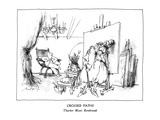 Crossed Paths-Thurber Meets Rembrandt - New Yorker Cartoon
