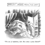 """Proust Orders From The Cart-""""I'm out of madeleines  Jack  How about a pru…"""" - New Yorker Cartoon"""