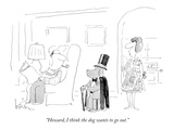 """Howard, I think the dog wants to go out."" - New Yorker Cartoon Giclée premium par Arnie Levin"