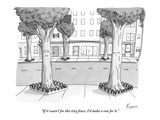 """If it wasn't for this tiny fence  I'd make a run for it"" - New Yorker Cartoon"