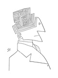 Bust of man The top of his head is a maze - New Yorker Cartoon