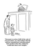"""Pursuant to section 3-603 of the code of civil procedure  my client alleg…"" - Cartoon"