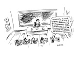 I would like to read my essay about what I did over vacation  but I can't … - Cartoon