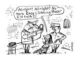 All right!  All right!  No more Easy Listening Rock!  I'll talk!!' - Cartoon