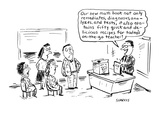 Our new math book not only remediates  diagnoses  analyzes  and tests  it … - Cartoon