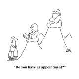 """Do you have an appointment"" - Cartoon"