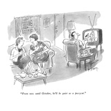 """""""From now until October  he'll be quiet as a pussycat"""" - New Yorker Cartoon"""