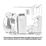 """Fortunately Al videotaped Walter Cronkite's final years on TV just in c…"" - Cartoon"