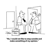 """""""No  I would not like to step outside and make something of my opinion"""" - Cartoon"""