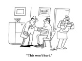"""This won't hurt"" - Cartoon"