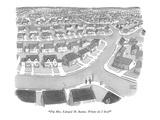 """I'm Mrs Edward M Barnes Where do I live"" - New Yorker Cartoon"