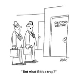 """But what if it's a trap"" - Cartoon"