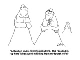 """""""Actually  I know nothing about life  The reason I'm up here is because I…"""" - Cartoon"""