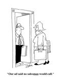 """Our ad said no salesman would call"" - Cartoon"