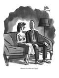 """Want to sit on this side  Lefty"" - New Yorker Cartoon"