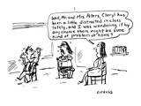 Well  Mr and Mrs Peters  Cheryl has been a little distracted in class la… - Cartoon
