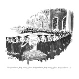 """""""Congratulations  keep moving  please  Congratulations  keep moving  plea…"""" - New Yorker Cartoon"""