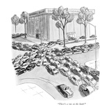 """There's a run on the bank!"" - New Yorker Cartoon"