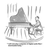 """I will now play a selection of digital audio files I downloaded today"" - Cartoon"