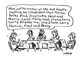 Now  just to review  at the last faculty meeting   ' - Cartoon
