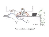 """I see here that you do applets"" - Cartoon"