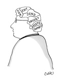 Man's brain is divided into these sections: View  Edit  Send  Insert  Dele… - Cartoon