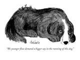 """""""We younger fleas demand a bigger say in the running of this dog"""" - New Yorker Cartoon"""