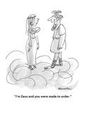 """I'm Zeus and you were made to order"" - Cartoon"