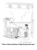 """Here's a little something to bridge the generation gap"" - Cartoon"