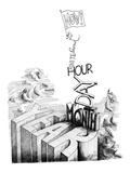 """Now! Second  Minute  Hour  Day  Month  Year"" - New Yorker Cartoon"