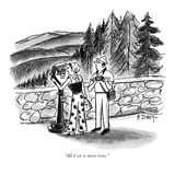 """""""All I see is more trees"""" - New Yorker Cartoon"""