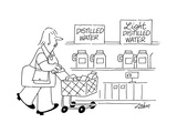 Signs: Distilled Water  Light Distilled Water - Cartoon