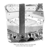 """High inside Ball three Count is now three balls and two strikes Here c…"" - New Yorker Cartoon"