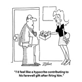 """I'd feel like a hypocrite contributing to his farewell gift after firing …"" - Cartoon"